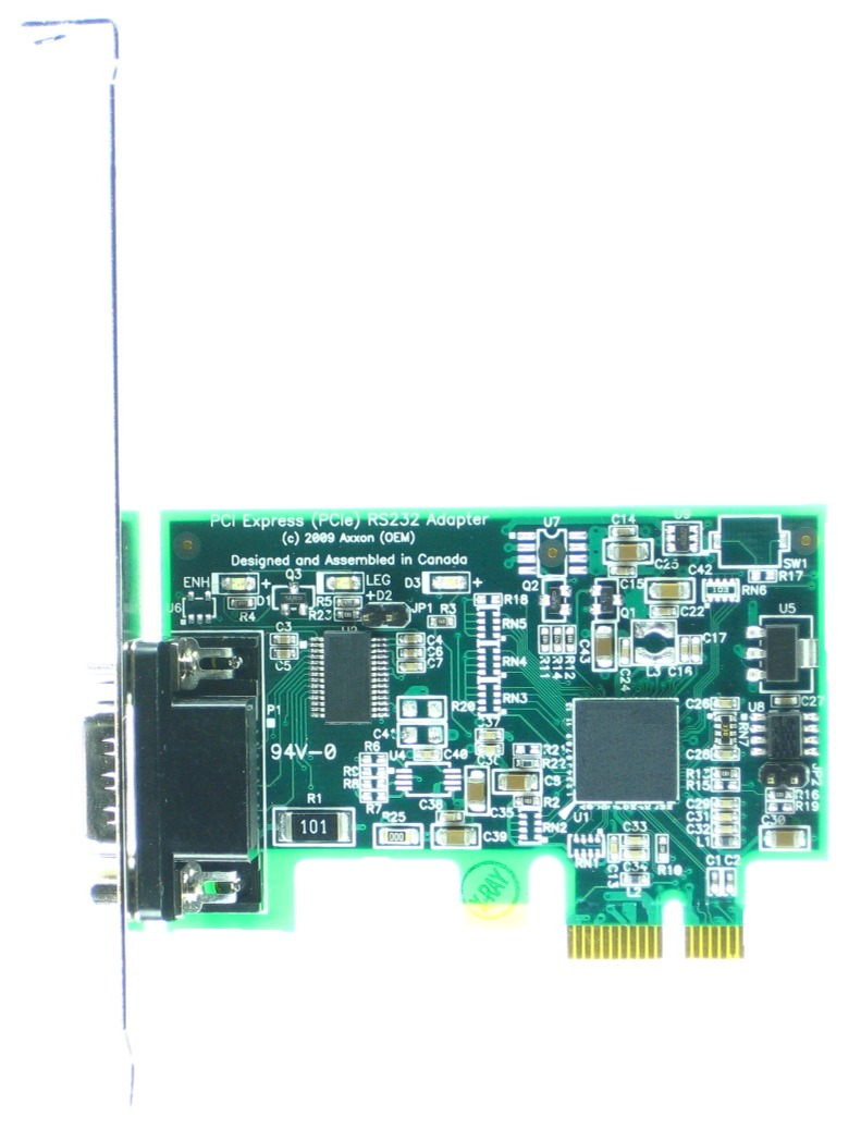 Click for large picture of the PCI Express (PCIe) LF659KB RS232 Host Adapter