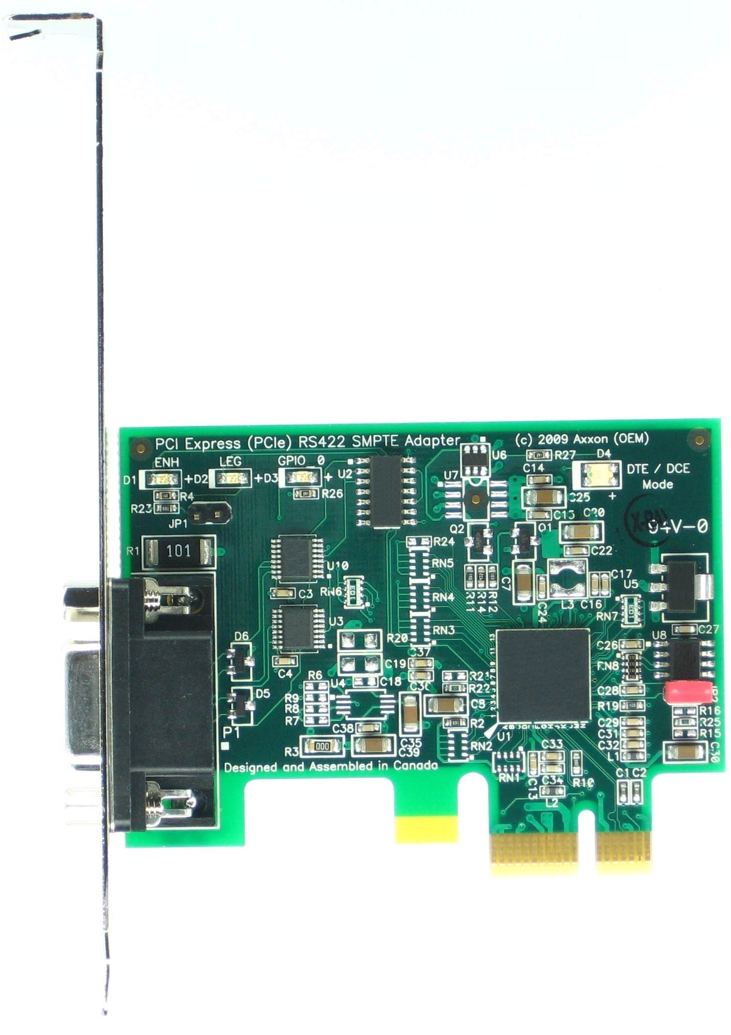 Click for large picture of the PCI Express (PCIe) LF774KB SMPTE RS422 adapter
