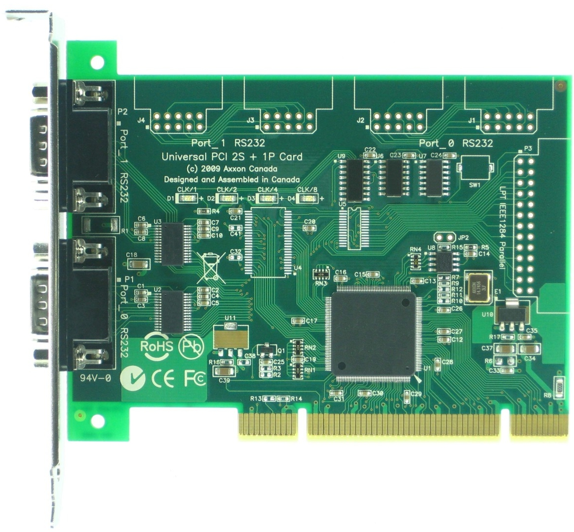Click for large picture of the Universal PCI Dual Serial RS232 adapter