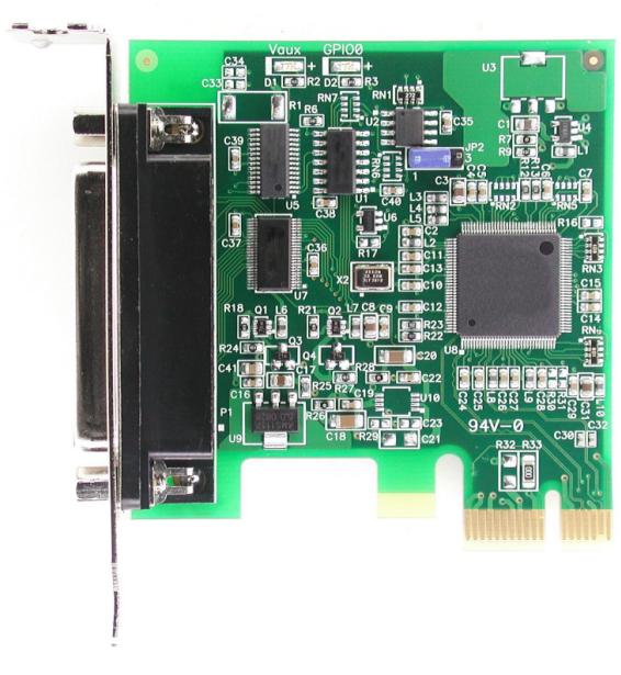 Click for large picture of the PCI Express (PCIe) LF9189KB EPP/ECP Parallel Port Host Adapter