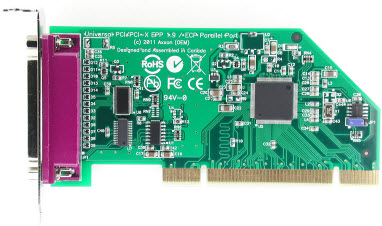 Click for large picture of the Universal PCI (uPCI) LF918KB EPP/ECP Parallel Port Host Adapter