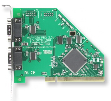Click for Large Picture of 2 Port PCI-X RS232 Card