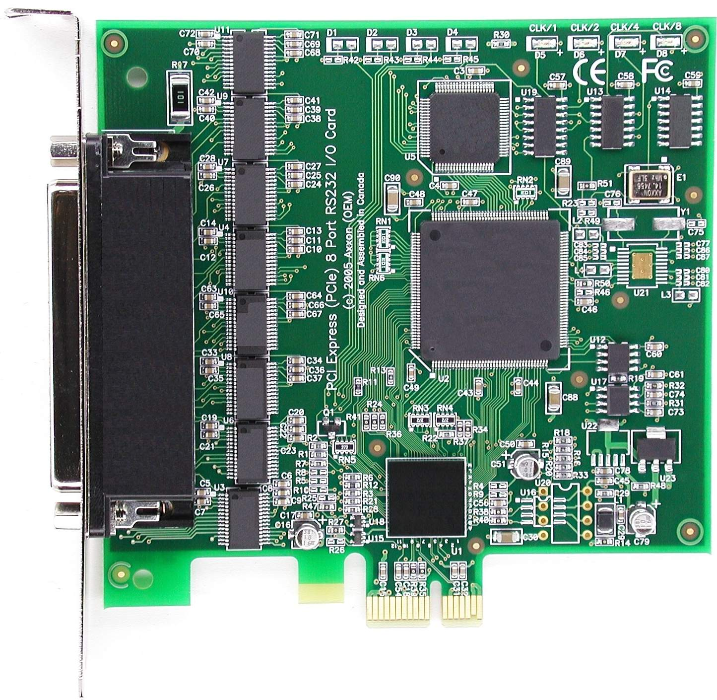 Pci Express 8 Port Rs232 Serial Multiport Pic Programmer Click For Large Picture Of Pcie Ic0662kb Card