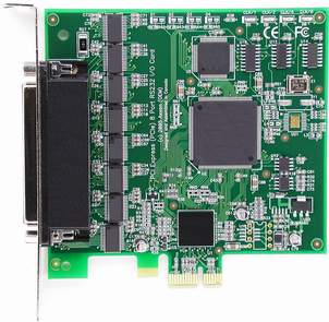 Click for large picture of PCI Express (PCIe) IC0662KB 8 Port RS232 card